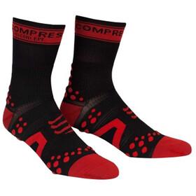 Compressport Racing V2 Bike Chaussettes hautes, black/red
